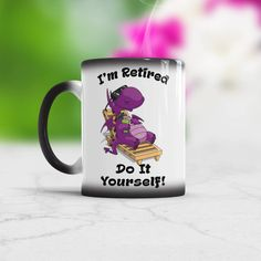 Retirement Gift for Dad From Daughter Funny Coffee Mug For Retired Man Present for Grandfather Who is Retired Birthday Gift Idea for Grandma Funny Coffee Mugs, Funny Mugs, Retirement Gifts For Dad, Funny Dragon, Animal Mugs, Grandma Birthday, Presents For Men, Cat Mug, Gifts For Coworkers