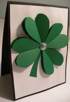 Make a 3D Paper Shamrock from Dollar Store Crafts