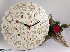 Ceas cu motive traditionale de Craciun Clock, Wall, Home Decor, Watch, Decoration Home, Room Decor, Clocks, Walls, Home Interior Design
