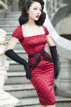 50 Fashion, Retro Fashion, Vintage Fashion, Womens Fashion, Lolita Fashion, Fashion Boots, Vintage Dresses 50s, Vestidos Vintage, Vintage Outfits