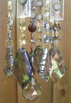 Crystal Wind Chime Yellow Chandelier Crystals Windchime Mellow - Yellow chandelier crystals