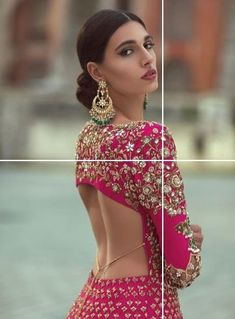 All Ethnic Customization with Hand Embroidery & beautiful Zardosi Art by Expert & Experienced Artist That reflect in Blouse , Lehenga & Sarees Designer creativity that will sunshine You & your Party Worldwide Delivery. Choli Blouse Design, Sari Blouse Designs, Blouse Styles, Sharara Designs, Indian Wedding Outfits, Indian Outfits, Indian Dresses, Bridal Outfits, Indian Bridal Wear