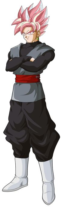 black goku super saiyajin rosa - Dragón Ball super