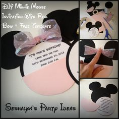 DIY Minnie Mouse Invitation Tutorial