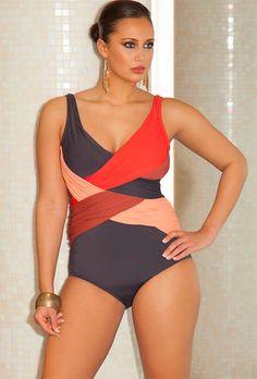 Plus Size Phoenix Crossover Swimsuit