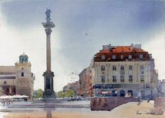 By Michal Suffczynski, Polish Architect and Watercolor Artist  watercolor  https://www.facebook.com/pages/Michal-Suffczynski/118101494905031 http://www.suffczynski.art.pl/