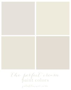 The best cream paint colors - find the right white!