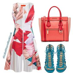 LIZ by elizabethhorrell on Polyvore featuring polyvore fashion style Clover Canyon Christian Louboutin MICHAEL Michael Kors