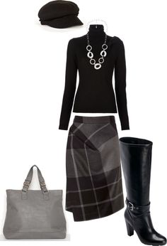 """Winter Black"" by modestlystylish ❤ liked on Polyvore"
