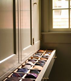 -organized closet/ tie drawer-- Spotlight on Tim Barber Ltd Architecture & Interior Design // Live Simply by Annie