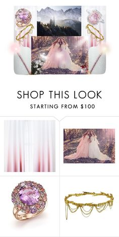 """""""Cellinthel and Laerthel, Queens of the Half-Elves"""" by meowlodie ❤ liked on Polyvore featuring Bloomingdale's and Jennifer Behr"""