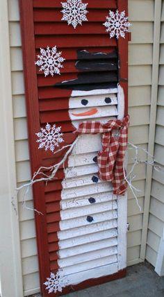Shutter Snowman