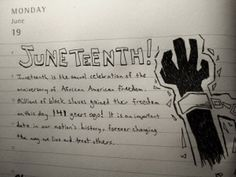Juneteenth = June + 19th.  What is Juneteenth all about?