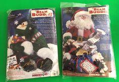 2 #Dimensions #BeanBuddies Kits 62170 #SnowyFriendMaker, 72173 #JollyStNick NIP