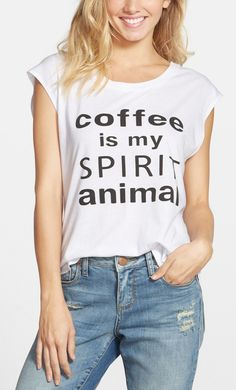 coffee is my spirit animal t-shirt from @nordstrom //  so true! #nordstrom