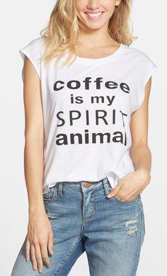 coffee is my spirit animal t-shirt from @nordstrom // so true! #nordstrom
