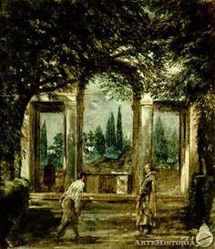 El mediodía, Vista del jardín de la villa Medicea - Obra - ARTEHISTORIA V2