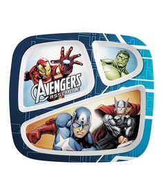 Another great find on #zulily! Avengers Assemble Three-Section Plate by Avengers #zulilyfinds