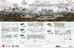 Gallery of First Place in public competition for the design of the new Botanical Garden Tropicario / Bogotá, Colombia - 14 - Gallery of First Place in public competition for the design of the new Botanical Garden Tropicario - Presentation Board Design, Architecture Presentation Board, Project Presentation, Interior Presentation, Architectural Presentation, Architecture Concept Drawings, Architecture Graphics, Architecture Portfolio, Architecture Diagrams