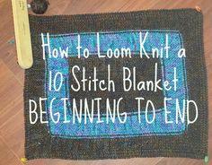 Ideas For Knitting Loom Blanket Tutorials Stitch Patterns Loom Knitting Blanket, Loom Blanket, Spool Knitting, Loom Knitting Projects, Loom Knitting Patterns, Yarn Projects, Stitch Patterns, Knitted Blankets, Knitting Ideas