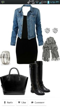Cute fall/ winter dress outfit