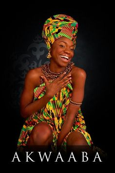 I've been to Ghana and it was an amazing experience! I would like to visit north, east, central, and south Africa as well. Kind of an African tour! Akwaaba means welcome in Ghana African Inspired Fashion, African Print Fashion, Fashion Prints, African Prints, Ghana Culture, African Culture, Afro, African Head Wraps, African Beauty