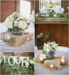 center pieces... I like this, but I would make it away different.