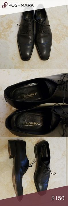 Dolce & Gabbana men dress shoes Very sexy toe shape and classic. I purchased from poshmark for my husband but they way too big for my husband's feet😧. They are gorgeous though😔. Condition is great and they have been polished and covered in good enviorment .  No box, No dust but come with other dust bag. Of course they are Authentic  .  No low ball please, reasonable offer accepted Dolce & Gabbana Shoes Oxfords & Derbys