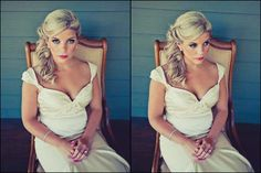 old hollywood glamour side swept hairstyles | side swept updo hairstyles for weddings