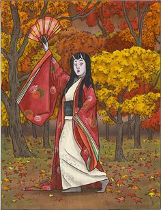 A-Yokai-A-Day: The Witch of Togakushi Mountain (Momiji)