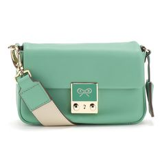 Celadon Butter Leather Carker Purse on a String Handsfree Anya Hindmarch Handbags