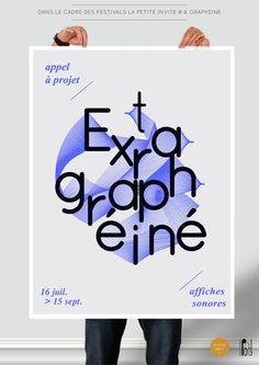 Poster, Extra Graphéïné, by Pink Pong et La Petite réitèrent