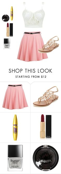 """""""Cute outfit"""" by taytay9502 ❤ liked on Polyvore featuring Ally Fashion, belle by Sigerson Morrison, Chanel, Butter London and Sugarpill"""