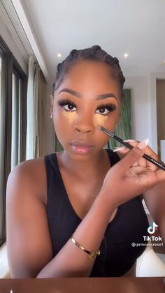 Dope Makeup, Glam Makeup Look, Beauty Makeup, Hair Makeup, Makeup For Black Skin, Black Girl Makeup, Girls Makeup, Maquillage Black, Maquillage On Fleek