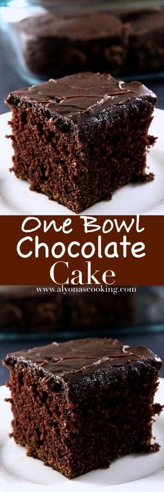One Bowl Chocolate Cake With Fudge Icing