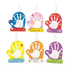 Every hand will fit inside these mittens! Even the youngest kids will have a great time with this Mitten Handprint Christmas Ornament Craft Kit. Perfect for daycares and classes and as an activity for… Daha fazlası Kids Crafts, Kids Christmas Ornaments, Christmas Crafts For Toddlers, Daycare Crafts, Winter Crafts For Kids, Classroom Crafts, Baby Crafts, Christmas Handprint Crafts, Preschool Christmas Activities
