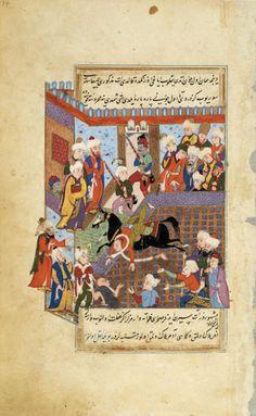 Rumi Leaves the Salawiyya Madrasa at Aleppo at Midnight Followed by his Teacher Kamal Al-Din Ibn Cadim, Ruler of Aleppo