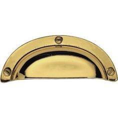 Martha Stewart Living 3 in. (76mm) Bedford Brass Canopy Cup Pull-P20633C-474-CP - The Home Depot