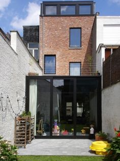 verbouwing burgerwoning | Radar Architecten Monochrome Interior, Interior Work, Garden Doors, House Extensions, Home Renovation, Old Houses, Home Projects, Future House, Building A House