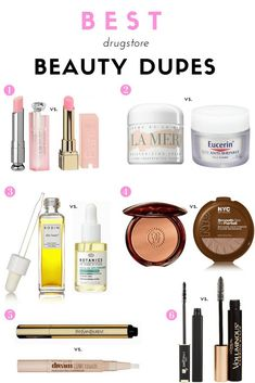 Beauty Tips The best drugstore beauty dupes for some of the most iconic beauty products ever made. - The best drugstore beauty dupes for some of the most iconic beauty products ever made. Dupe Makeup, Makeup Brushes, Elf Makeup, Candy Makeup, Eyeshadow Dupes, Mac Lipstick Dupes, Makeup Primer, Makeup Geek, Hair Makeup