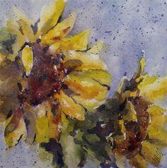 """Sunflower Escape"" - Original Fine Art for Sale - © Julie Hill"