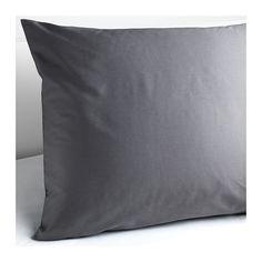 IKEA - GÄSPA, Kopfkissenbezug, 80x80 cm, , Die Satinwebart verleiht der Baumwolle seidigen Glanz und hohe Schmiegsamkeit.Kammgarnbaumwolle sorgt für weiche, hautsympathische Bettwäsche mit besonders gleichmäßigem, glattem Gewebebild.