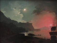Vesuvius from Posillipo - Joseph Wright of Derby  1778