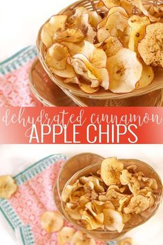 Cinnamon Apple Chips healthy apple recipes apple recipe ideas homemade apple chips how to make apple chips fruit chip recipes healthy snack recipes healthy chip recipes kid friendly snack ideas Oh So Delicioso Fruit Chips Recipe, Fruit Recipes, Apple Recipes, Gourmet Recipes, Snack Recipes, Healthy Recipes, Dehydrated Apples, Dehydrated Food, Dehydrated Banana Chips