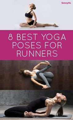 We've put together the 8 best yoga poses for runners. #running #yoga #yogaforrunners #yogaforrunning #yogabenefits #yogaposes #yogastretches