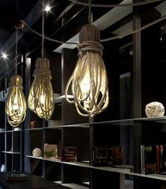 1000 images about touw on pinterest ropes restaurant for Interior rope lighting ideas