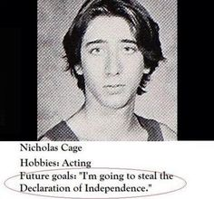 nicholas cage high school pictures...hehe