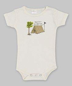 Another great find on #zulily! Ivory 'Happy Camper' Bodysuit - Infant by Ruff Truff #zulilyfinds  12.99
