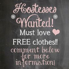 Earn free clothes hosting a online party.  One more date left on March 25th.  Who wants to host?