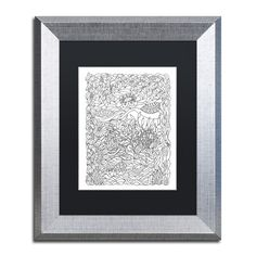"Trademark Art ""Frogger"" by Kathy G. Ahrens Framed Graphic Art Matte Color: Black, Size: 20"" H x 16"" W x 0.5"" D"